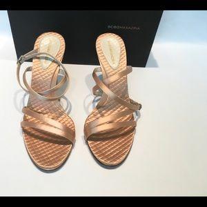 Shoes - BCBG MAXARIA JOTA SATIN HEEL SANDALS 8B preowned